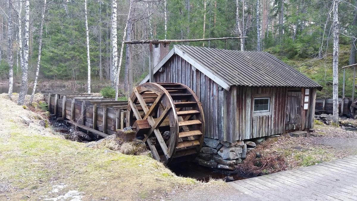 Eine alte Drahtzieherei des Smålands